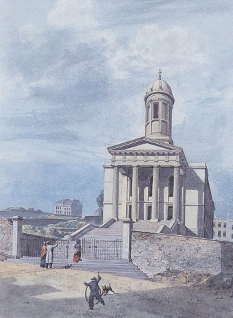 St George's Church, Great George Street by Edward Cashin, 1824 (Bristol's Museums, Galleries and Archives).