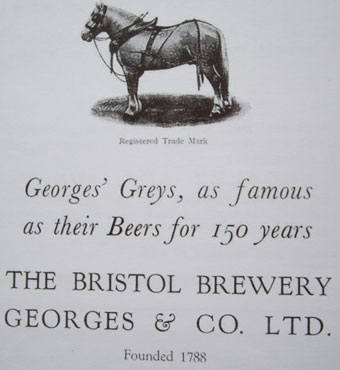 Advertising material for Georges'.