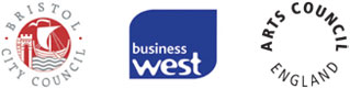 Bristol City Council, Business West and Arts Council logos